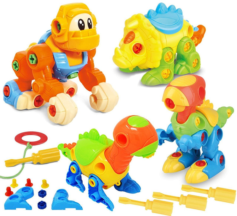 Dinosaur and Gorilla Take Apart Toy Sets
