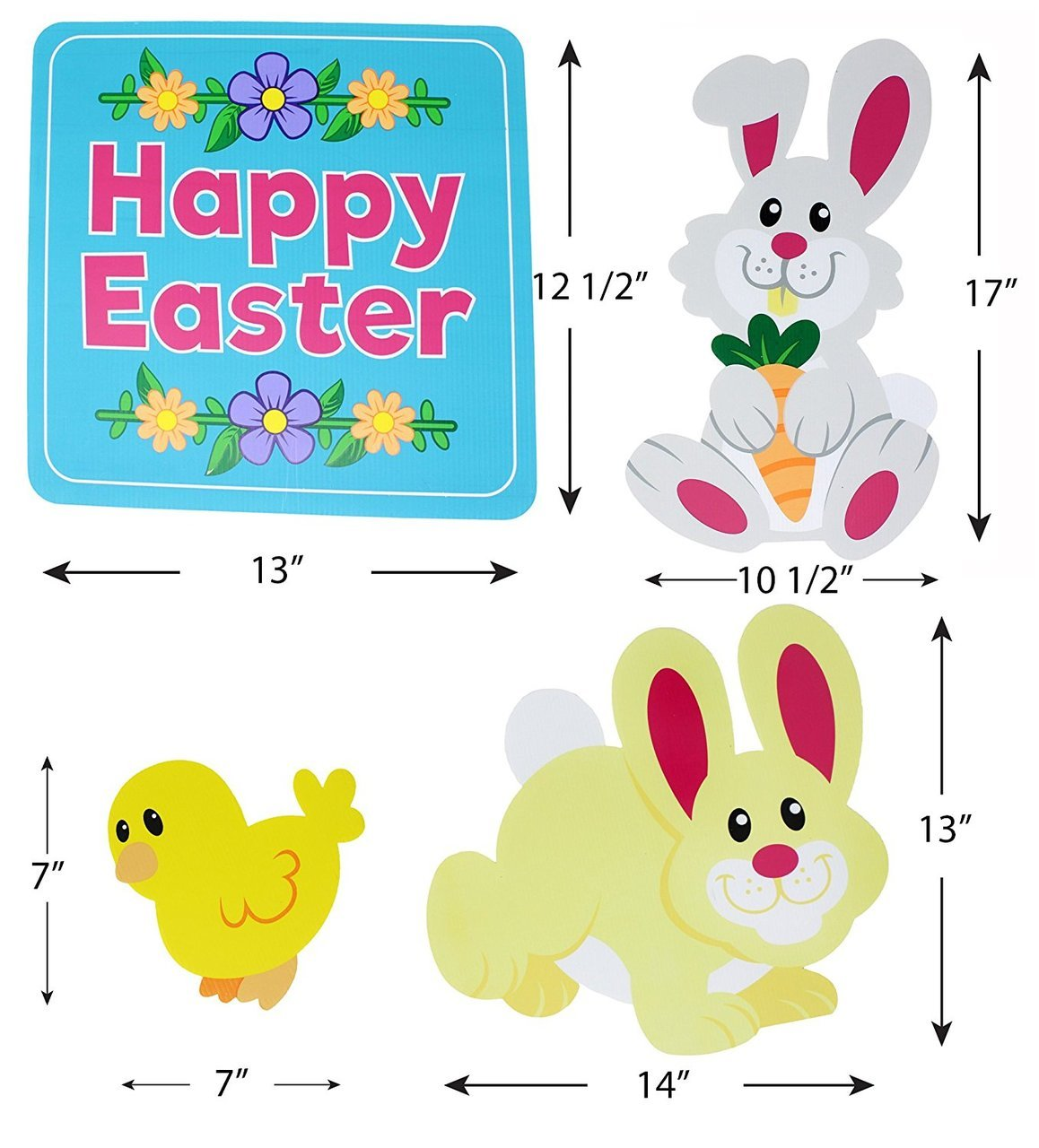 Easter Friends Yard Signs 10-Piece Set