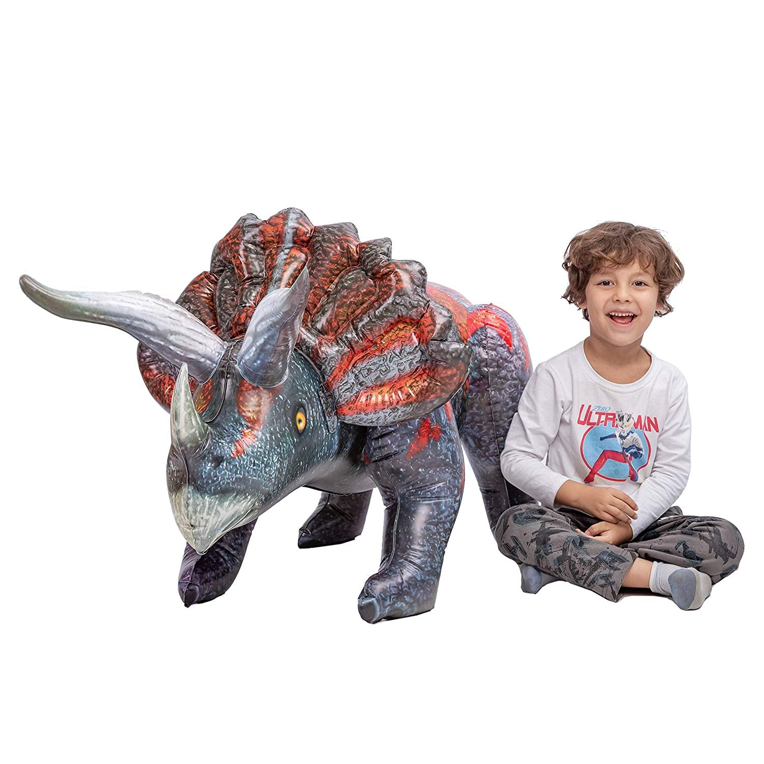 "63"" Inflatable Triceratops Dinosaur"