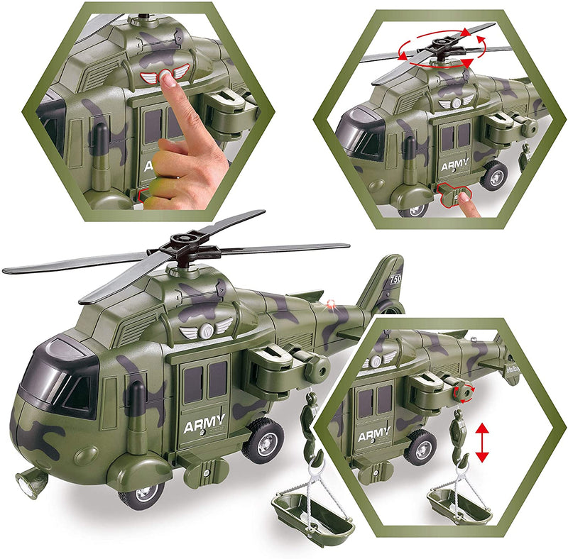 2 Pack Friction Powered Realistic Military Vehicle