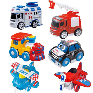 Friction Powered Die-Cast Cars, 6-Pack