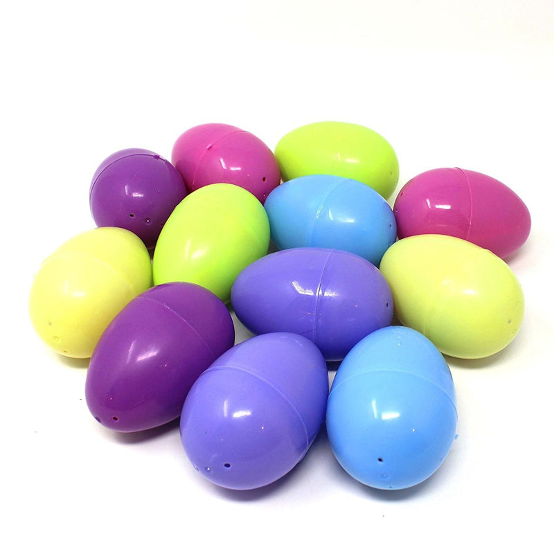 Easter Eggs Pre-Filled with Plush Toys, 12-Pack