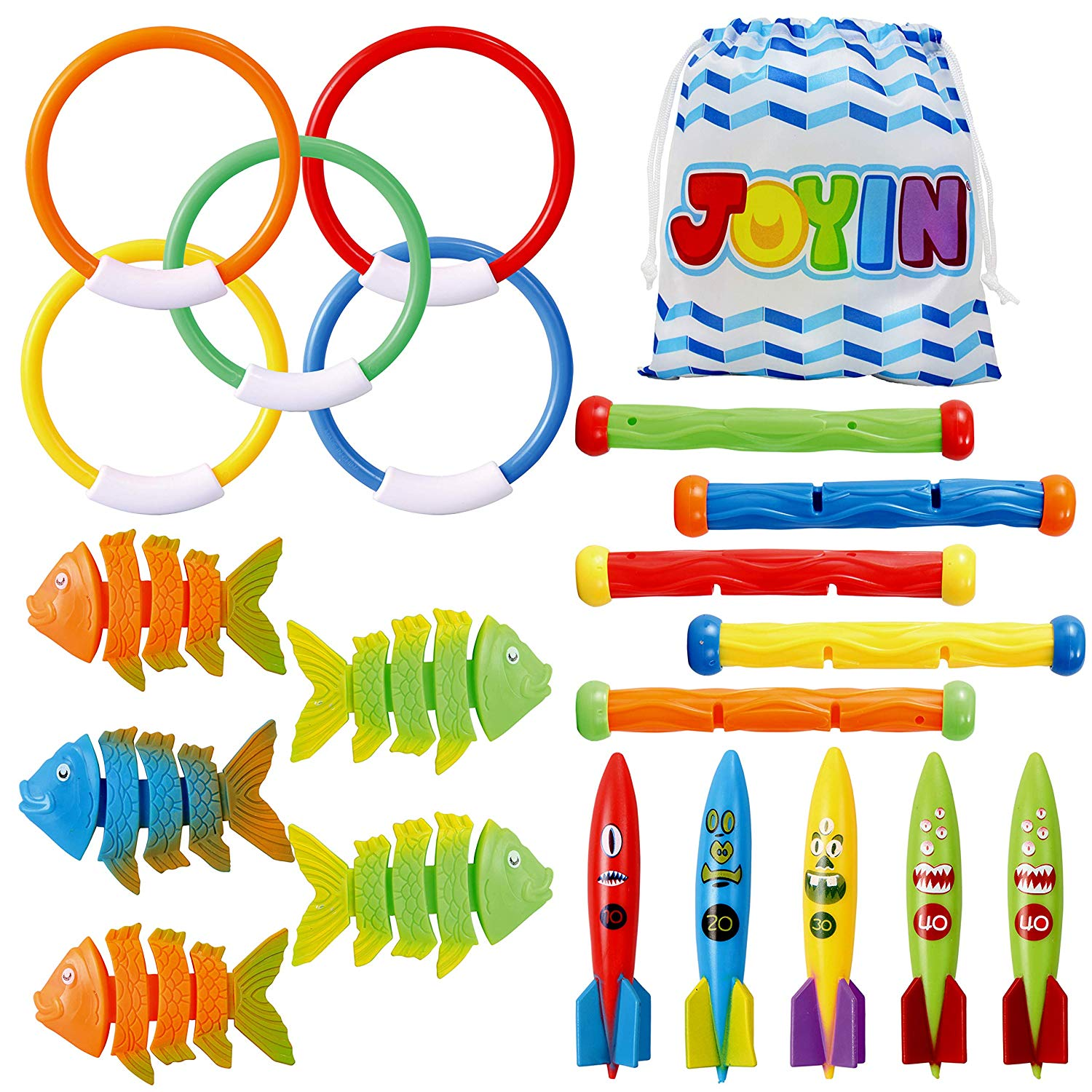 20 Pcs Diving Pool Toys Set