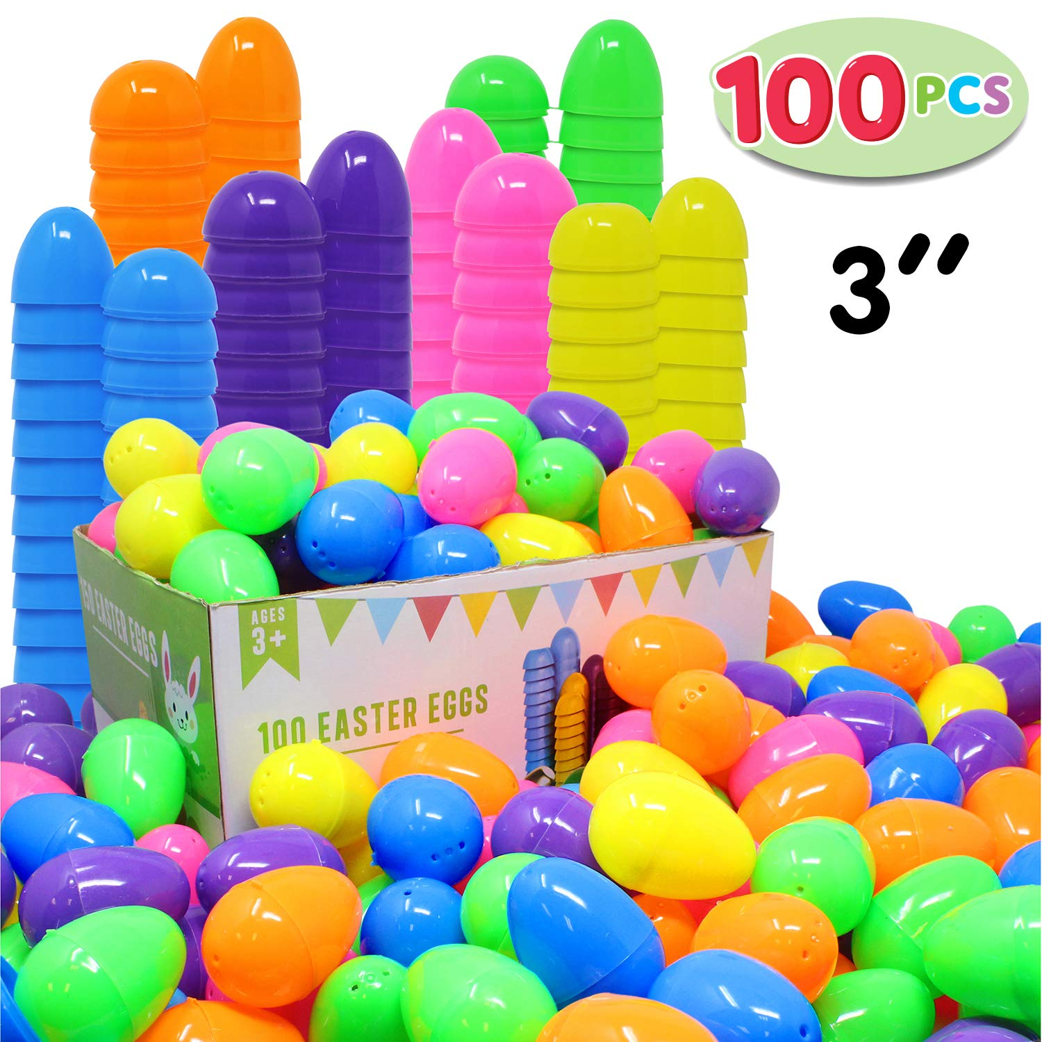 100 Pcs Colorful Easter eggs