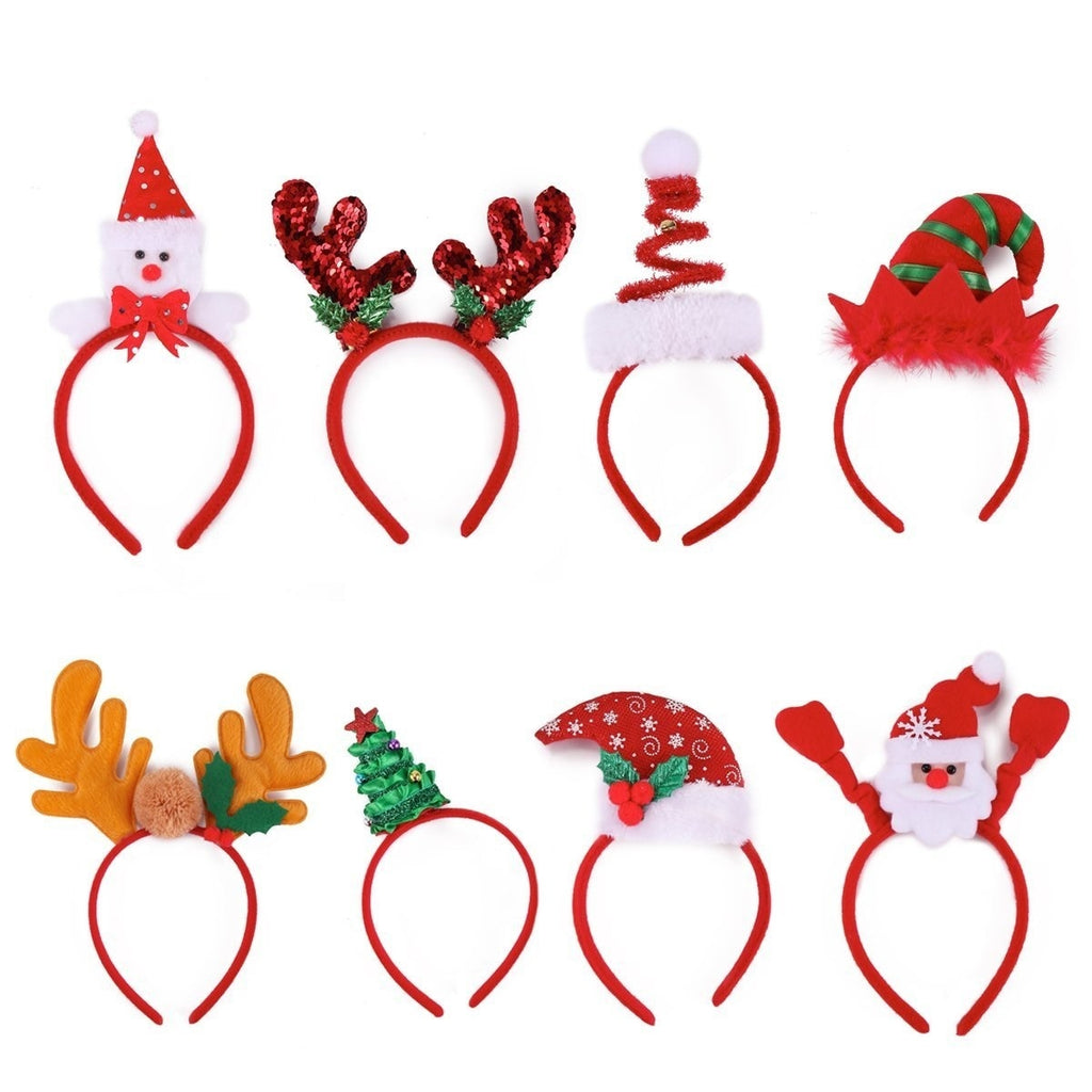 Christmas Headbands, 8-Pack