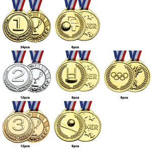 Deluxe Award Medals Set, 72 Pieces