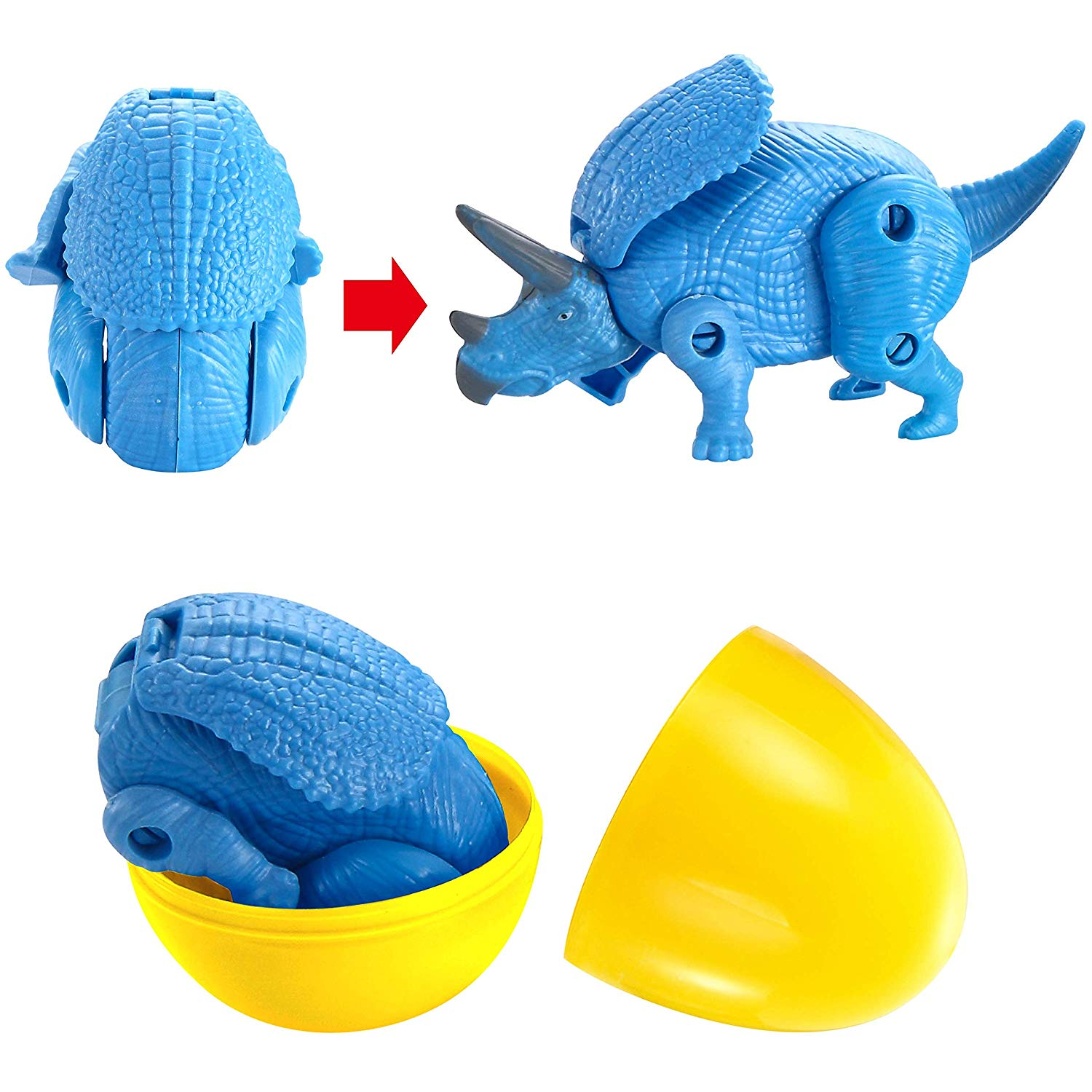 8 Pcs Eggs Filled with Deformable Transforming Dinosaur