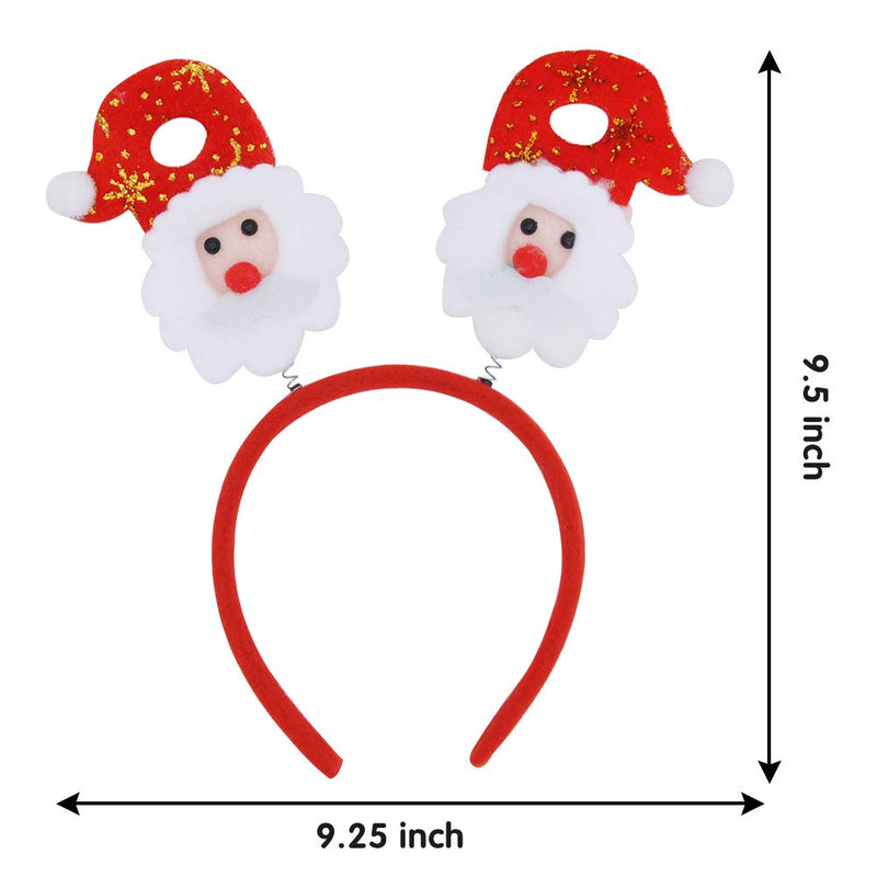 9 Christmas Headbands with Assorted Design
