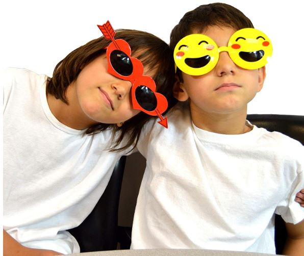 Pact of 8 Fanci-Frame Kids Party Neon Sunglasses