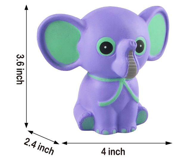 6 Pack Jumbo Size Squishy Animal Toy Slow Rising Stress Relief