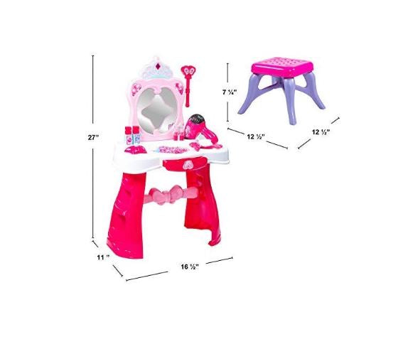 Toddler Fantasy Vanity Beauty Dresser Table Play Set