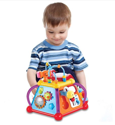 Baby Toddler Activity Center Musical Activity Cube Play Learning Center