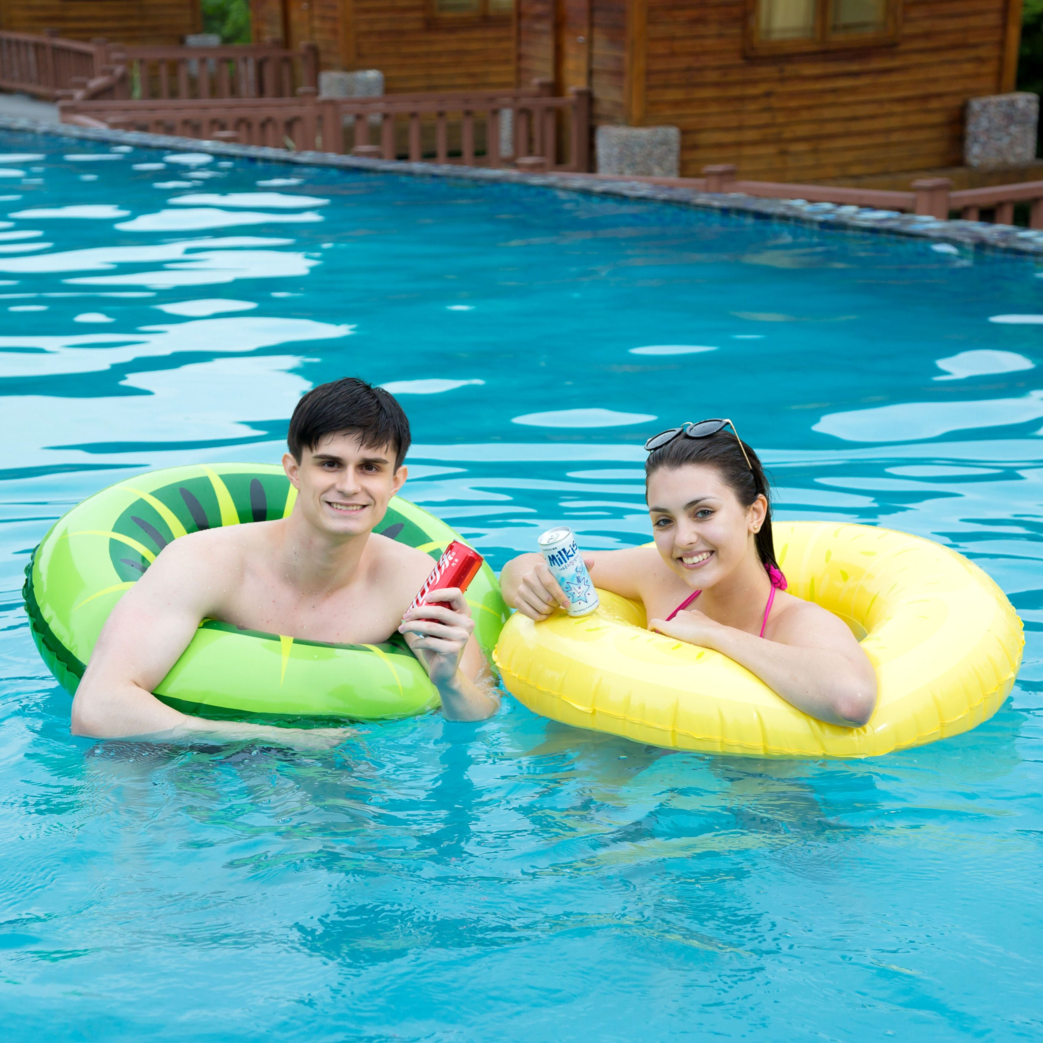Fruity Swim Float Rings, 3-Pack