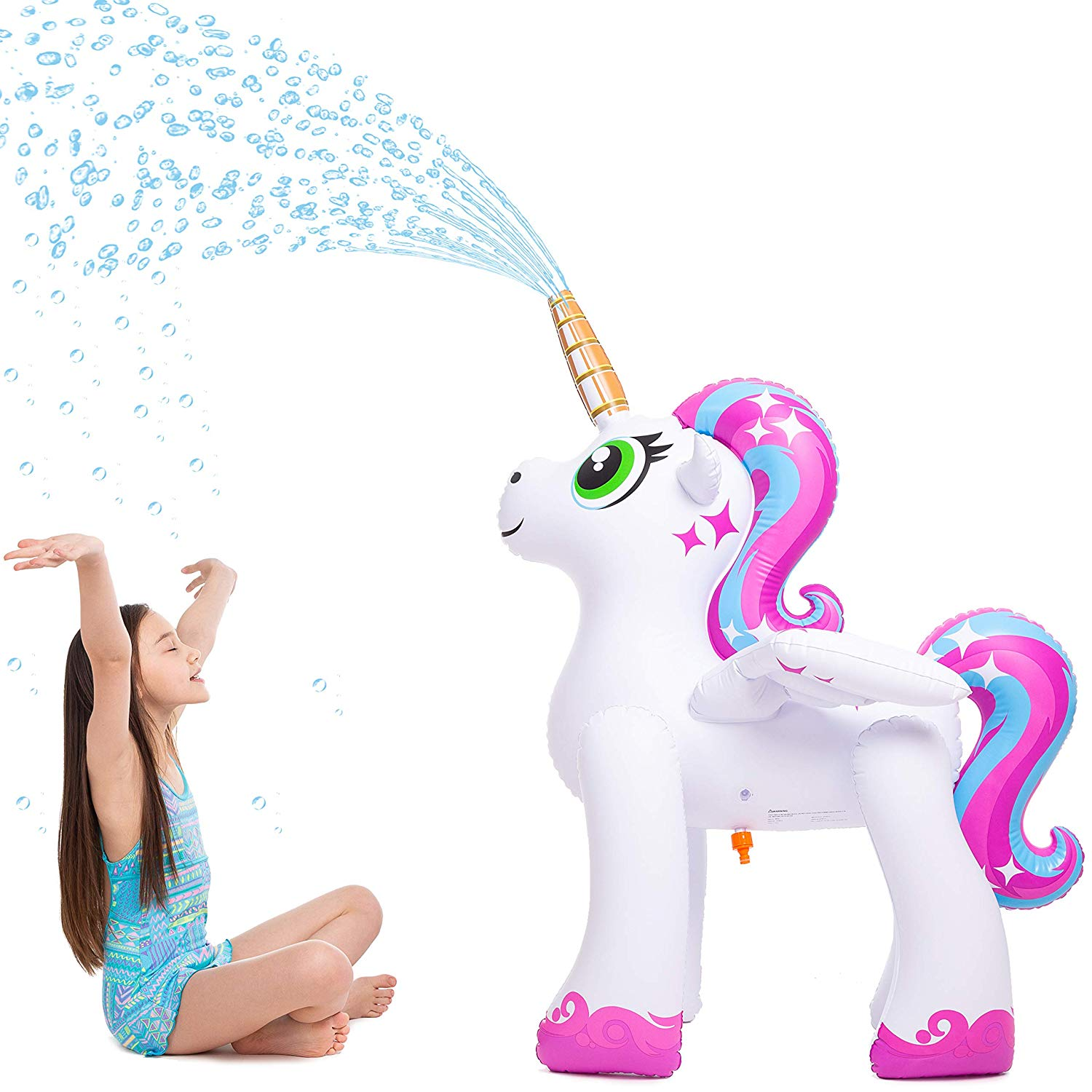JOYIN Inflatable Rainbow Unicorn Yard Sprinkler