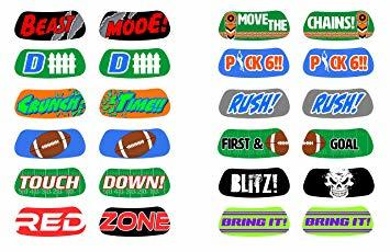 Football Temporary Tattoos, 12-Piece Set