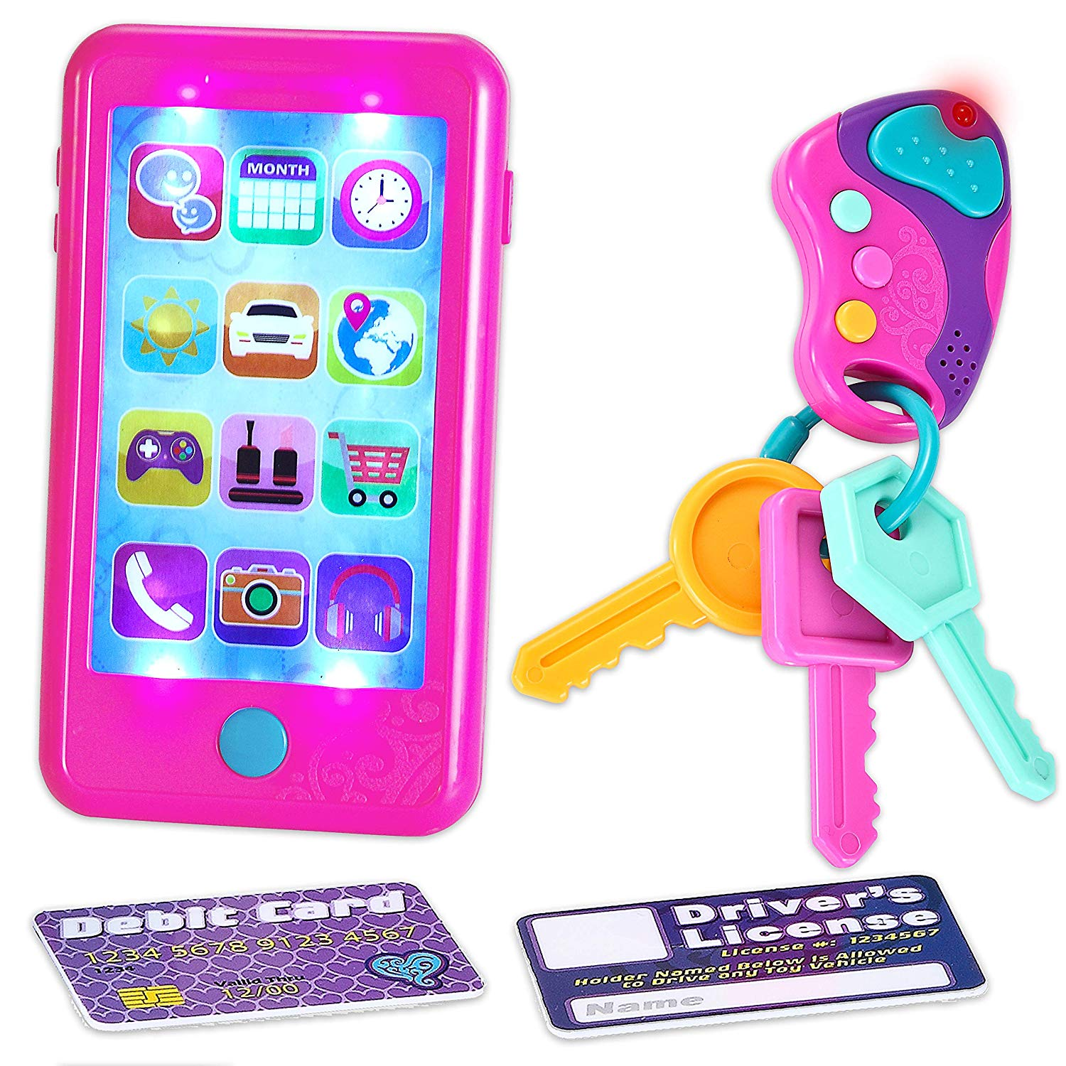 Play Smart Phone, Key Toy and Credit Cards Set