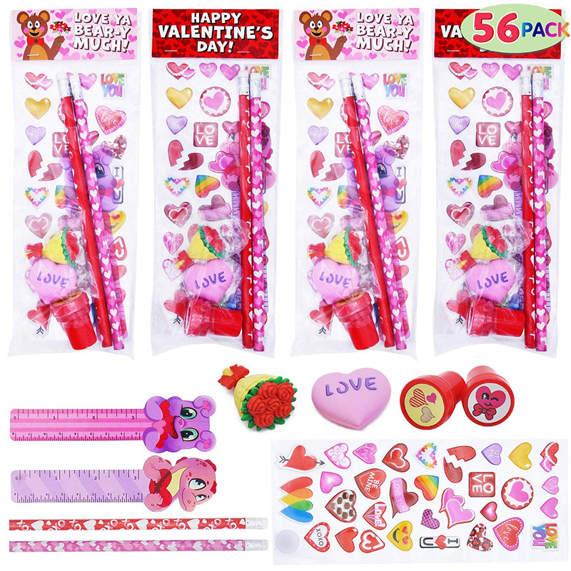 56 Pack Valentine Stationery
