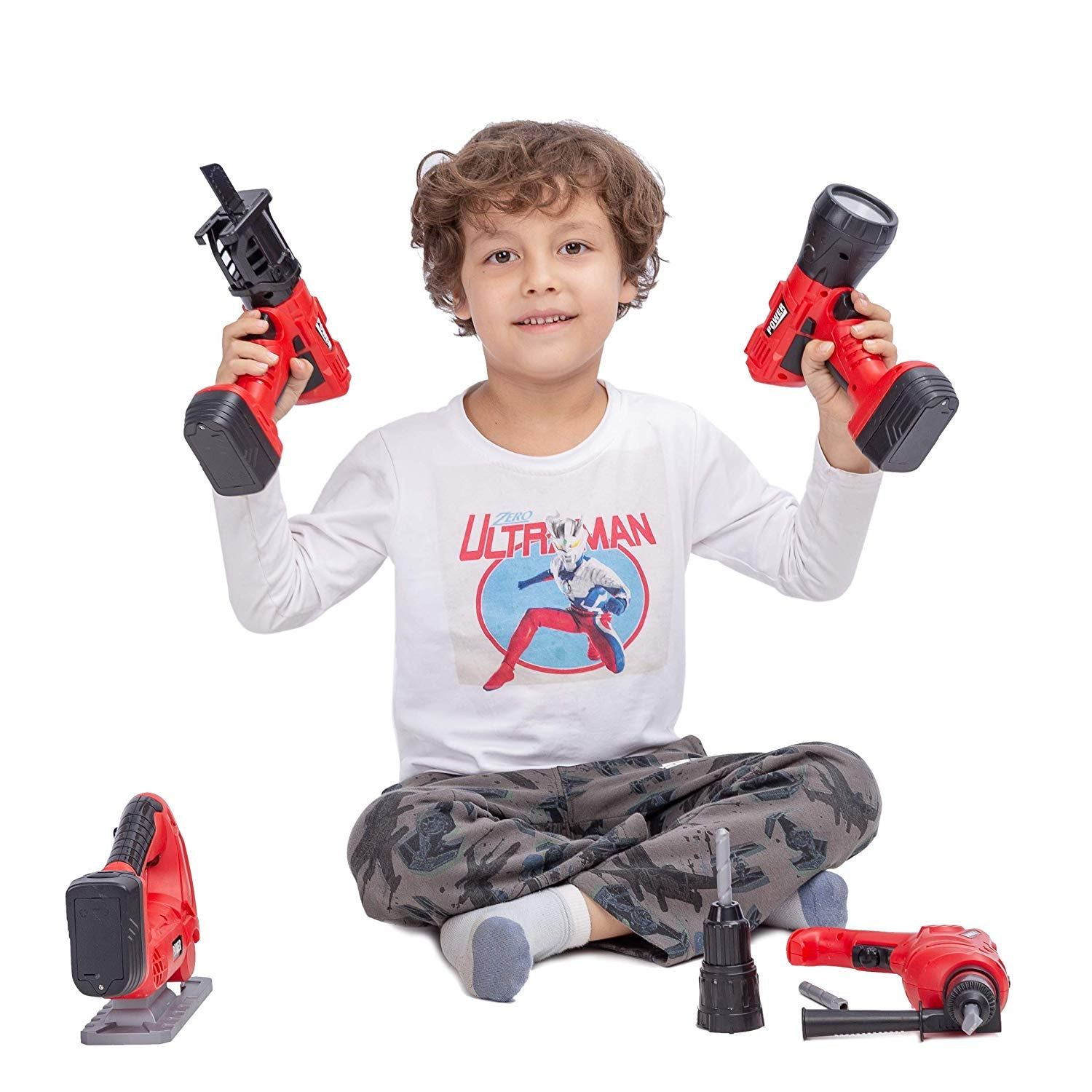 4-in-1 Construction Electric Tool Playset