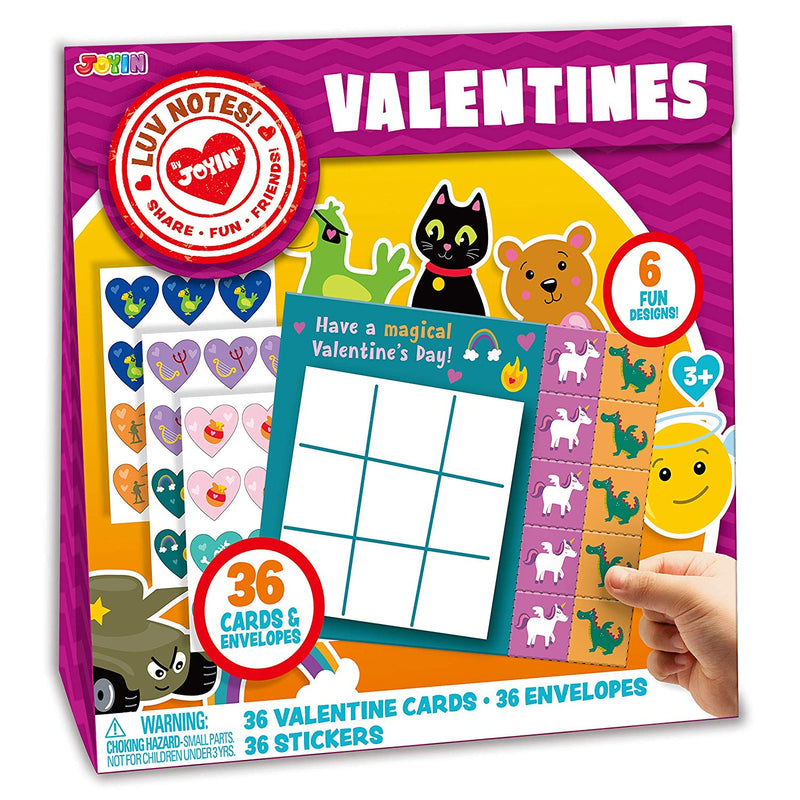 Valentine Cards of Animal Tic Tac Toe