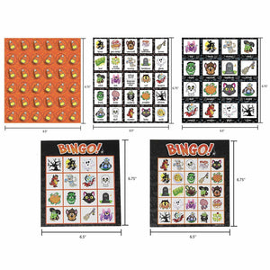 Halloween Bingo Game with 32 Cards