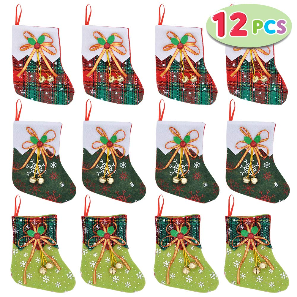 Mini Christmas Stocking with Jingle Bells