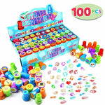 100 Pieces Assorted Stamps for Kids Self-ink Stamps (50 Different Designs)