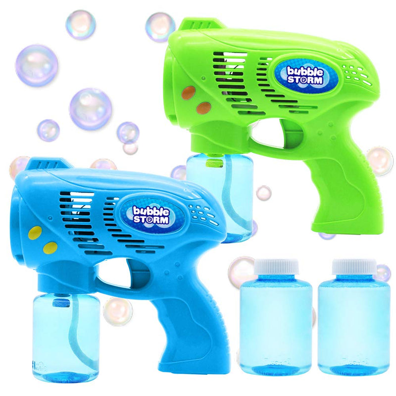 2-Piece, Bubble Guns and Refill Solution