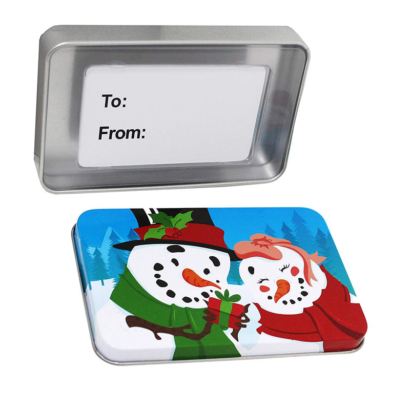 6 Christmas Gift Card Tin Holders