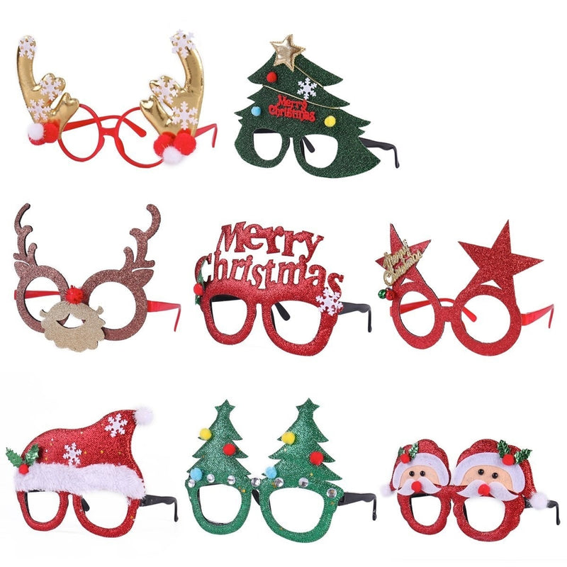 Christmas Party Fancy Glasses, 8-Pack
