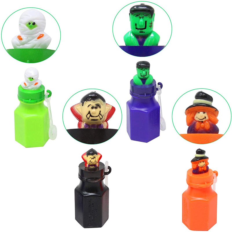 12 Piece Halloween Character Themed Bubbles