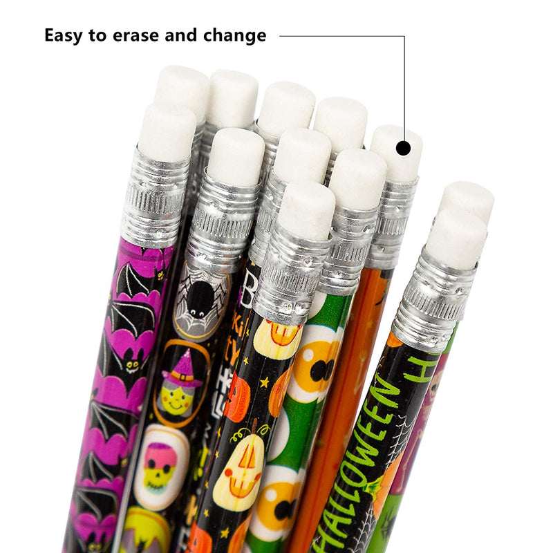 48 PCS Halloween Pencil Assortment with Eraser