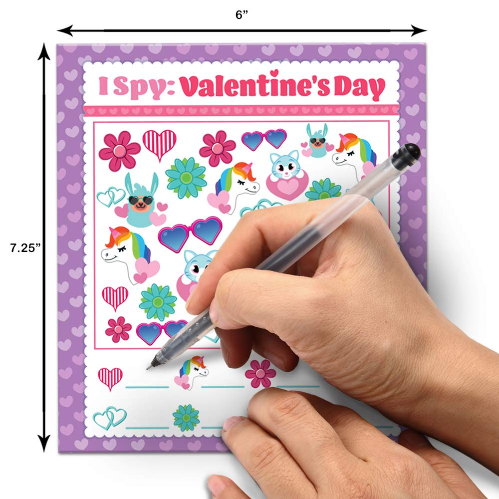 Valentine Gift Cards of I Spy Game