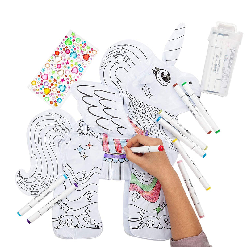 Inflatable Unicorn Coloring Craft Toy Set