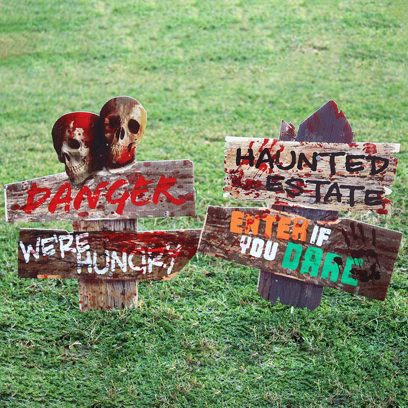 Scary Yard Sign, 6 Pcs