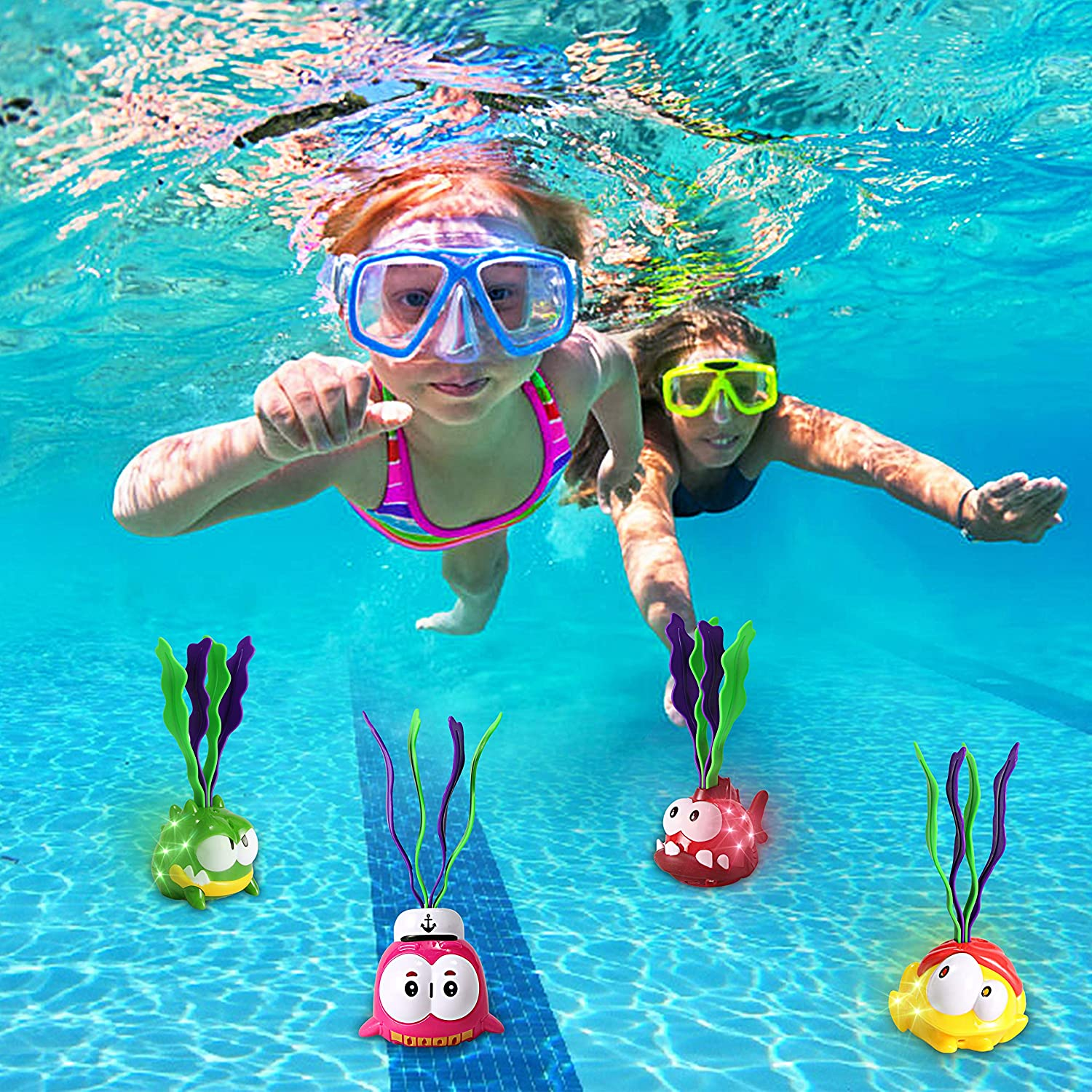 Light-up Diving Pool Toys Set, 6 Packs