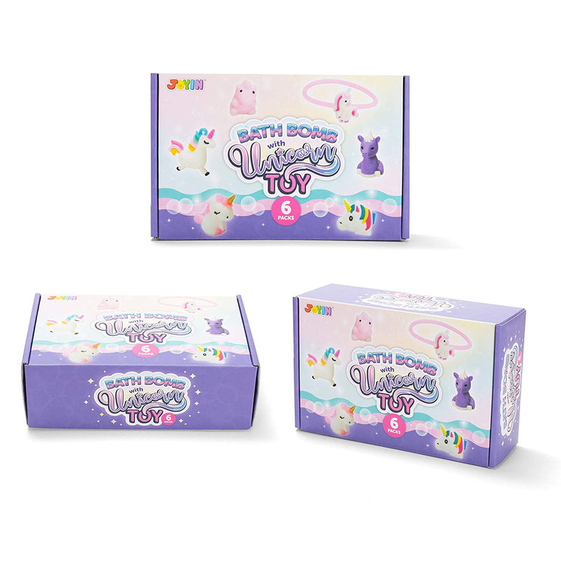 Bath Bombs for Kids with Unicorn Toys