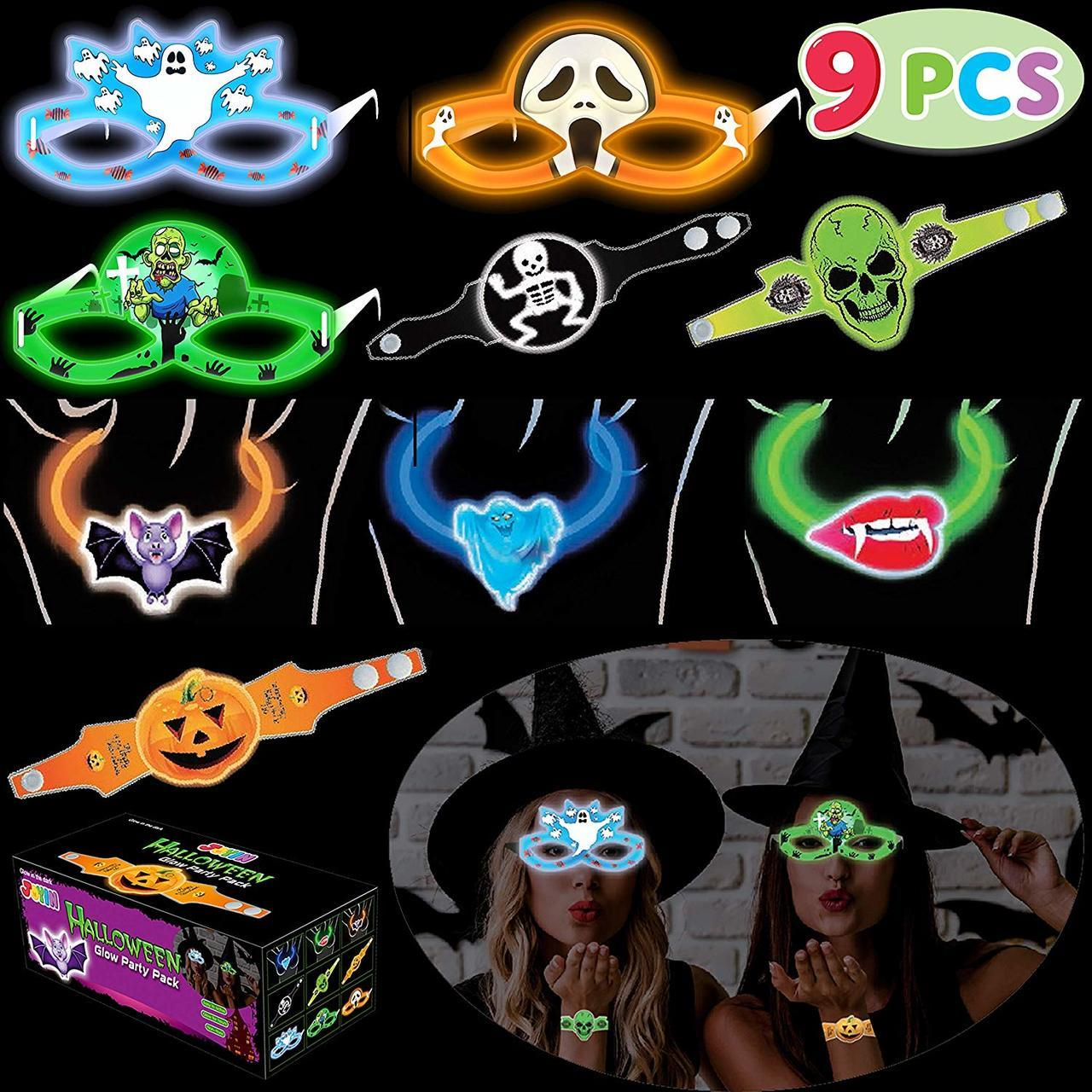 Halloween Glasses Glow Sticker Pack