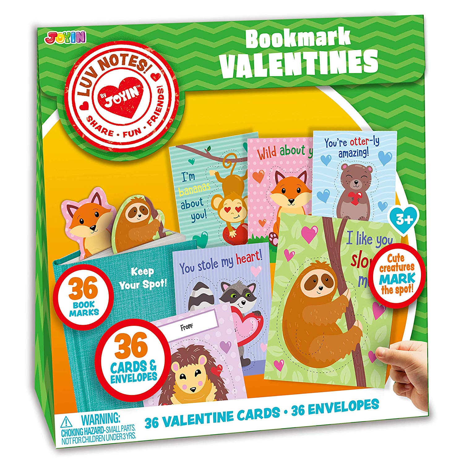 Valentine Gift Cards with Cute Animal Bookmarks