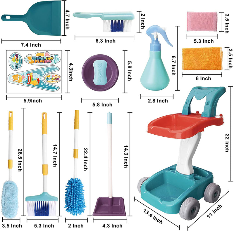 Housekeeping Cart Cleaning Toy Set