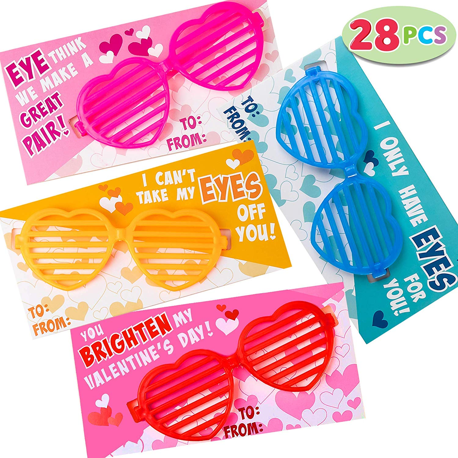 Valentine Gift Cards with Heart Shaped Shutter Shade