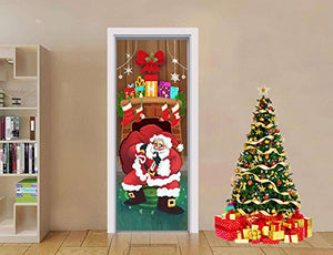 Silent Night Santa Door Cover