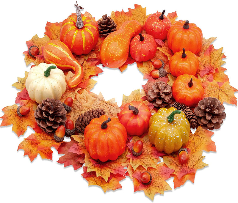 Thanksgiving Artificial Pumpkins Home Decoration 72 PCS