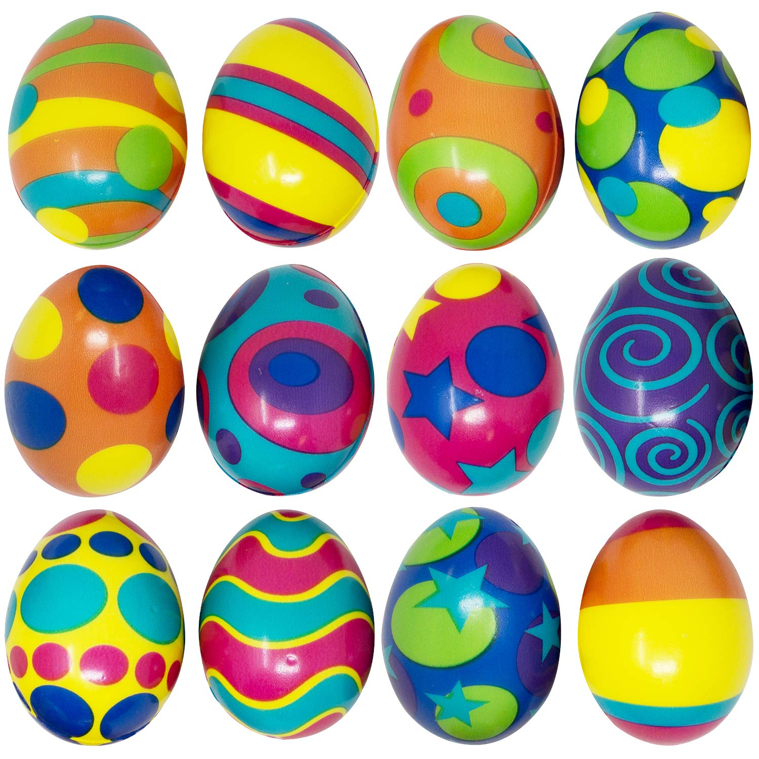 24 Pcs Colorful and Squishy Eggs for Easter Eggs