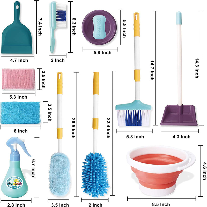 Pretend Play Housekeeping Cleaning Toy Set
