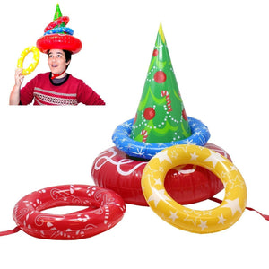 Inflatable Christmas Tree Ring Toss Game