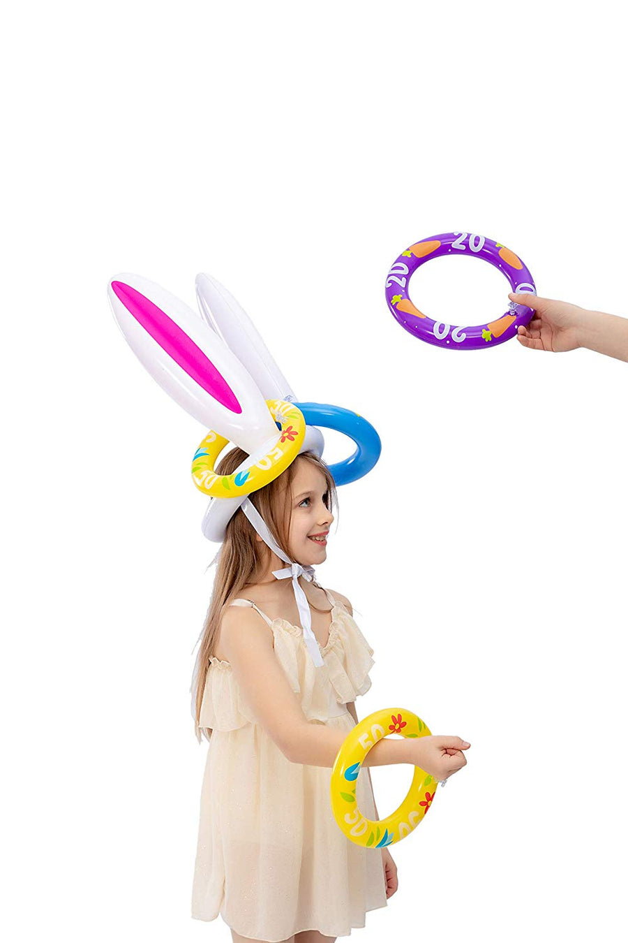 Inflatable Bunny Ear Ring Toss Game