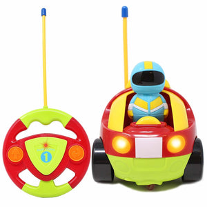 Remote Control Cartoon Car with 4 Figures