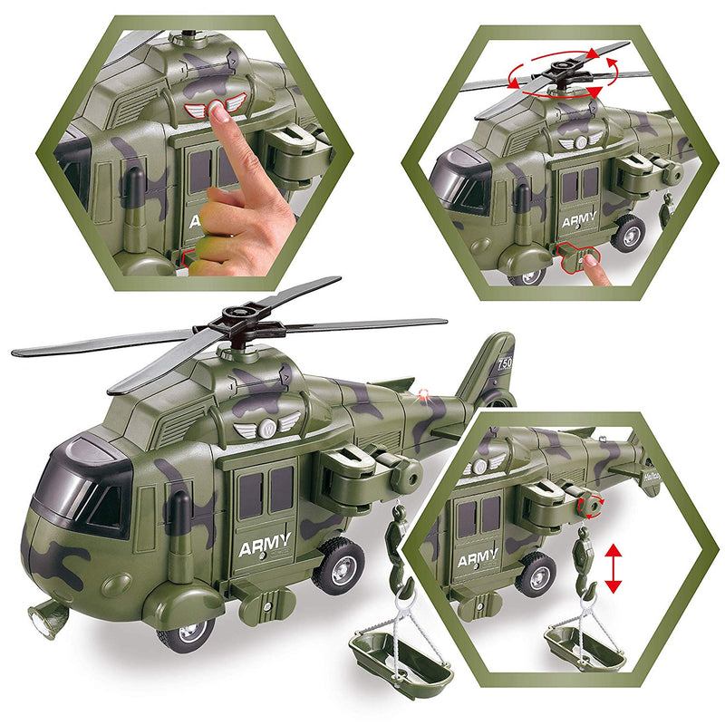 2 in 1 Military Vehicle Truck & Helicopter Set