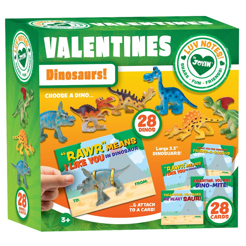 VALENTINES DAY GIFTS CARDS WITH DINOSAURS