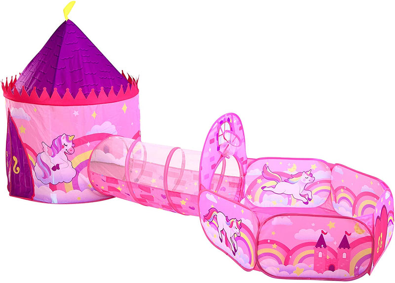 Unicorn Design Premium Tent with Tunnel and Playground Set